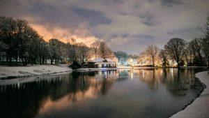 Blackburn Queens Park Snowfall